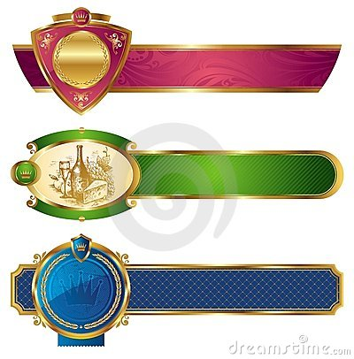Frame gouden luxebanners