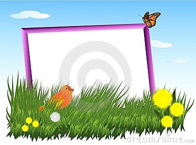 Frame in the grass, cdr vector