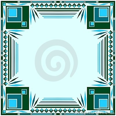 Frame green and blue