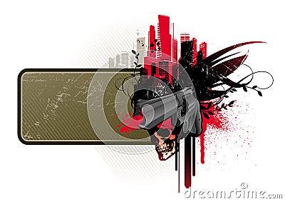 Frame with gun