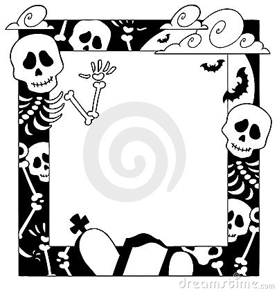 Frame with Halloween topic 4