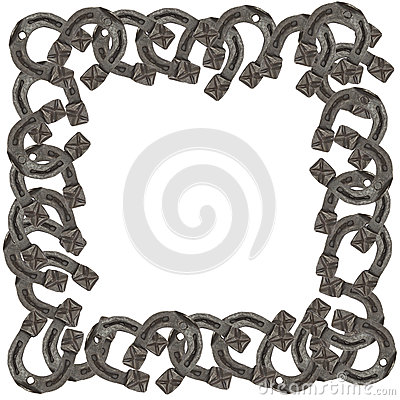 horses with horseshoe frame stock vector image 64168708