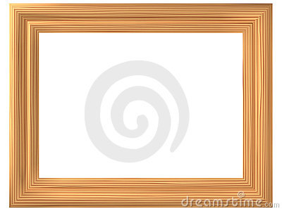 Frame with imitation of wood