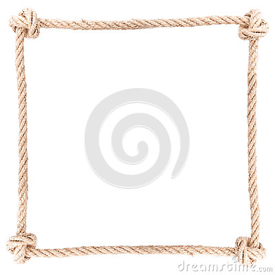 Free Frame Knot Rope Royalty Free Stock Photo - 56155805