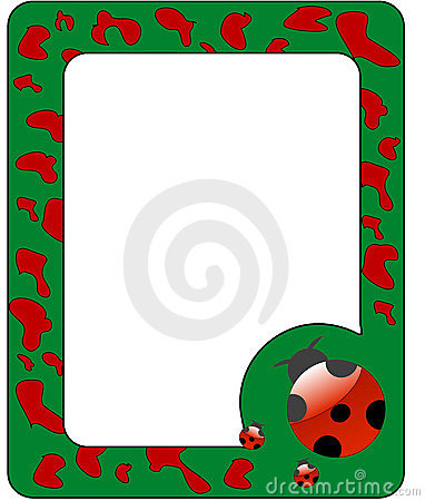Frame with ladybird.