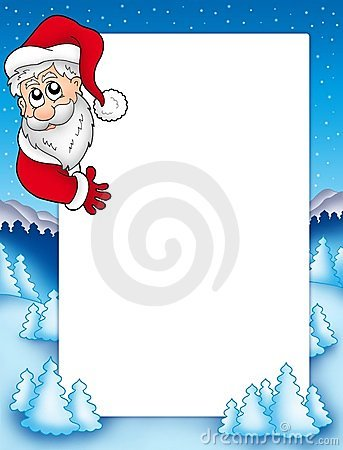 Frame with lurking Santa Claus 2