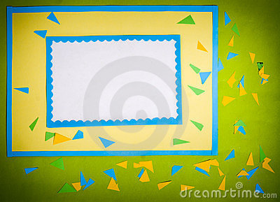 Frame made ​​of paper