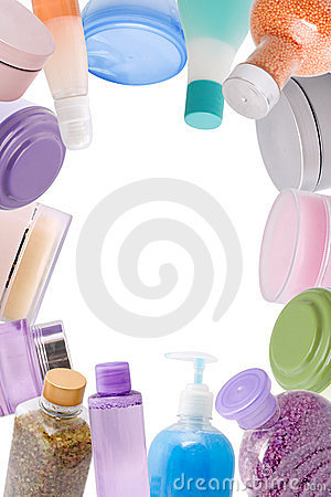 Frame Made Of Cosmetics Stock Photos - Image: 23438923