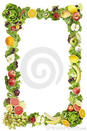 The frame made of  fruits and vegetables Editorial Stock Image