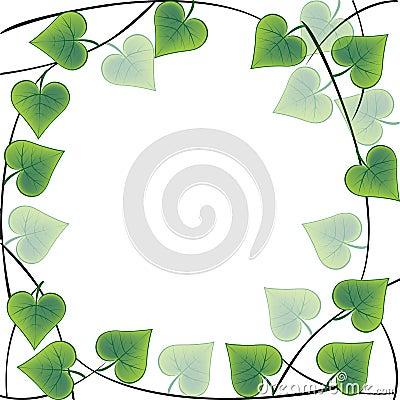 Frame made of leaves