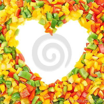 Free Frame Made Of Sliced Bell Peppers Royalty Free Stock Photo - 37702485