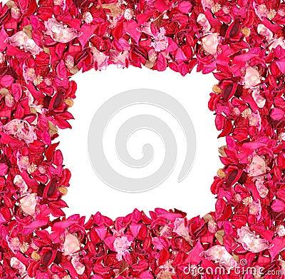 Frame made of petals