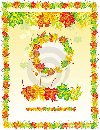 frame from maple leaves