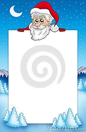 Frame met het sluimeren van de Kerstman 1