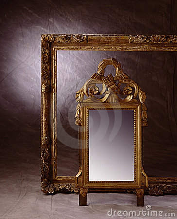 Frame and mirror