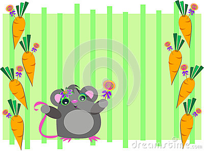 Frame of Mouse with Carrots
