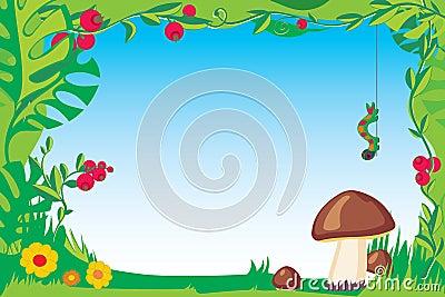 Frame with mushroom