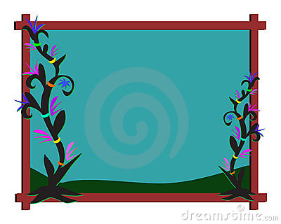 Frame of Night Plants
