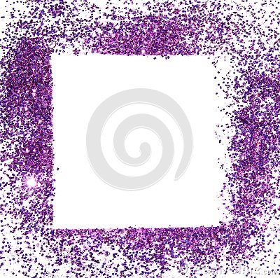 Free Frame Of Purple Glitter Sparkle On White Background, Can Be Used For Greeting Or Invitation Cards Stock Photos - 79732233