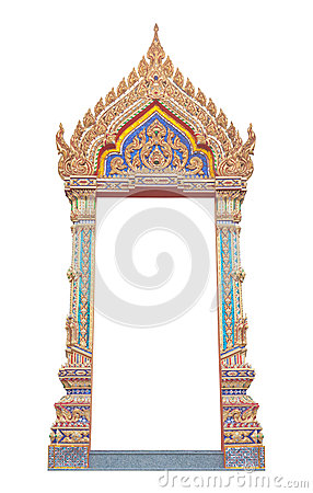 Free Frame Of Thai Ancient Gate Art Royalty Free Stock Images - 33159469
