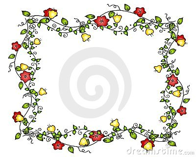 Frame ou beira da videira da flor