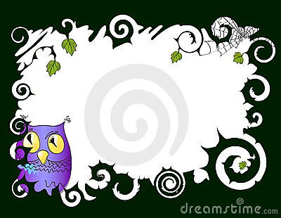 Frame with owl