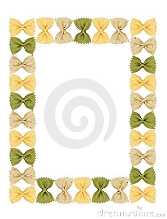 Frame pasta similar to a butterfly.
