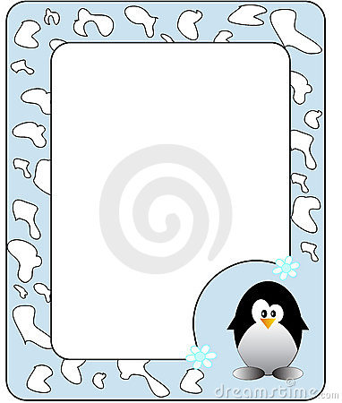 Frame with penguin.