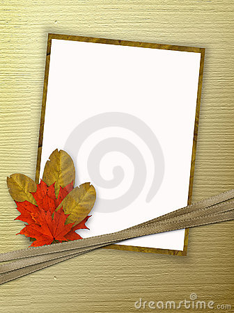 Frame for photo or congratulation with bouquet