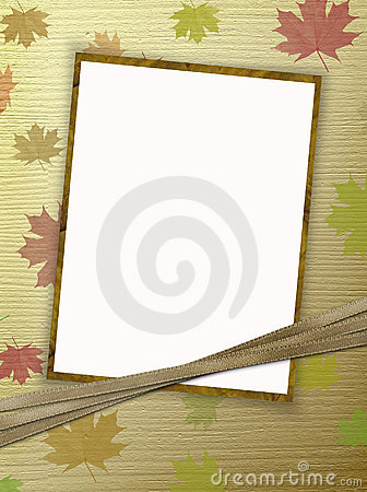 Frame for photo or congratulation with ribbons