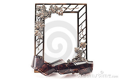 Frame for photos and film strip