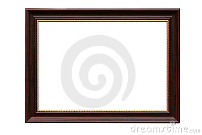 Frame for picture from baguette on white
