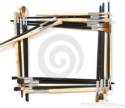 Frame For Pictures And Brush Stock Photo - Image: 16565470