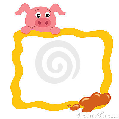 Frame with pig