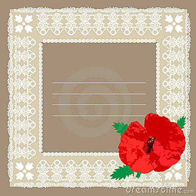 Frame and poppy