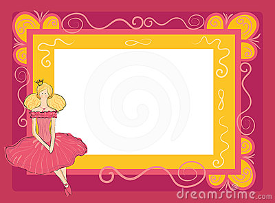 Frame with princess