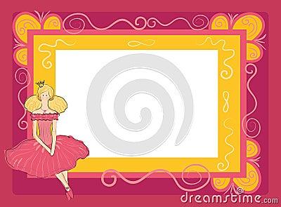 Frame with princess