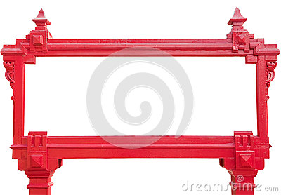 Frame of red sign