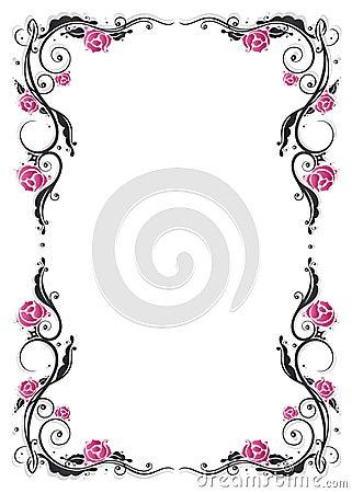 Frame, roses, vintage