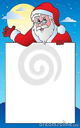 Frame with Santa Claus theme 1