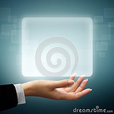 Frame screen white on hand