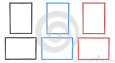 Frame Sets In Three Colors Stock Photography - Image: 28780852