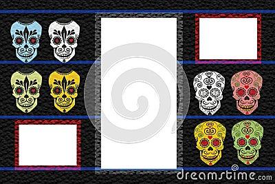 Frame with skulls