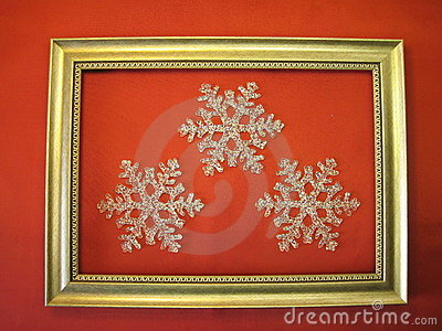 Frame and snowflakes