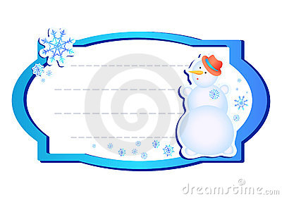 Frame with snowman