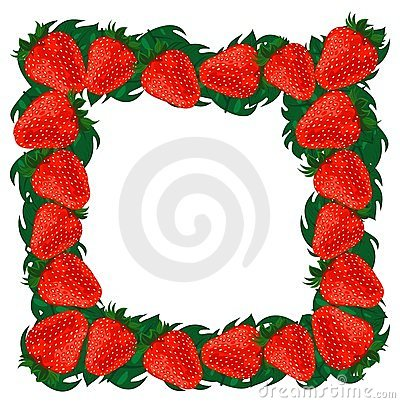Frame strawberries.