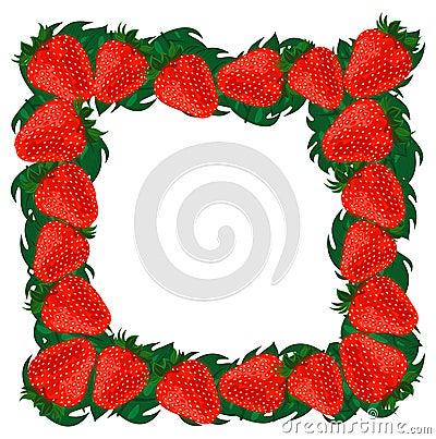 Frame strawberries.