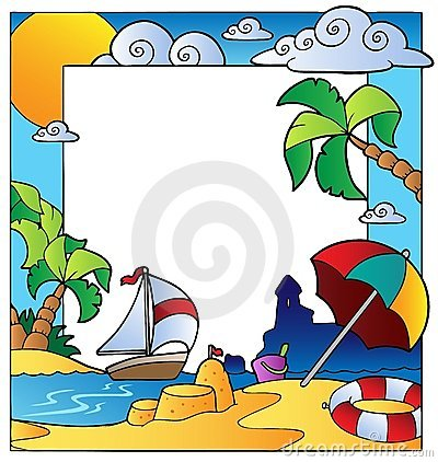 Frame with summertime theme 1