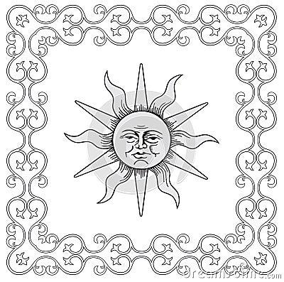 Frame and sun vector