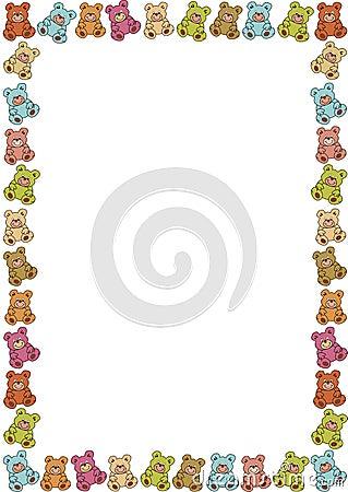 Frame of teddybears